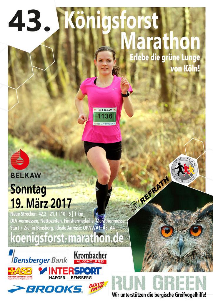 run green run happy k nigsforst marathon fr hbucherrabatt f r 2017. Black Bedroom Furniture Sets. Home Design Ideas